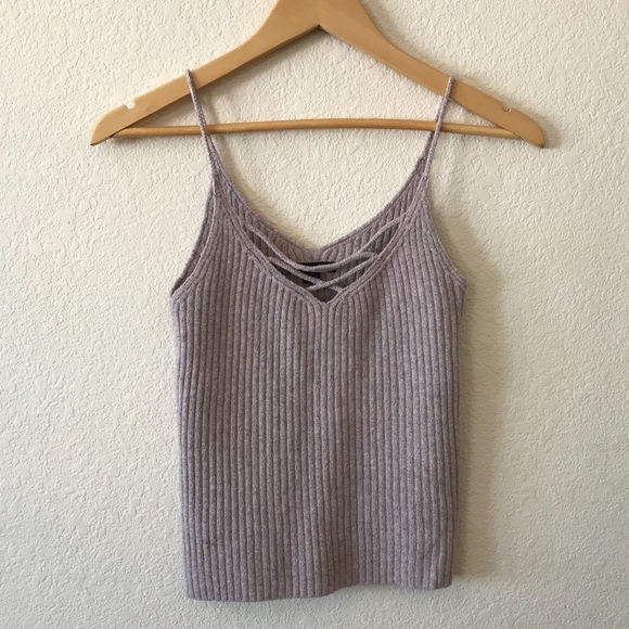 American Eagle Outfitters Tops - AEO | Pink Knit Tank